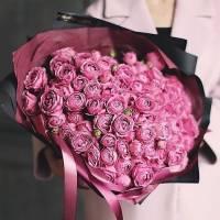 Букет 51 пионовидная кустовая роза R004