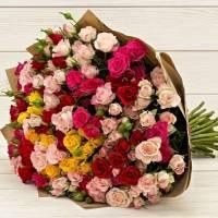 Букет 31 ветка кустовой розы R76